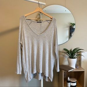 Brandy Melville | Heather grey Bobbie Sweater